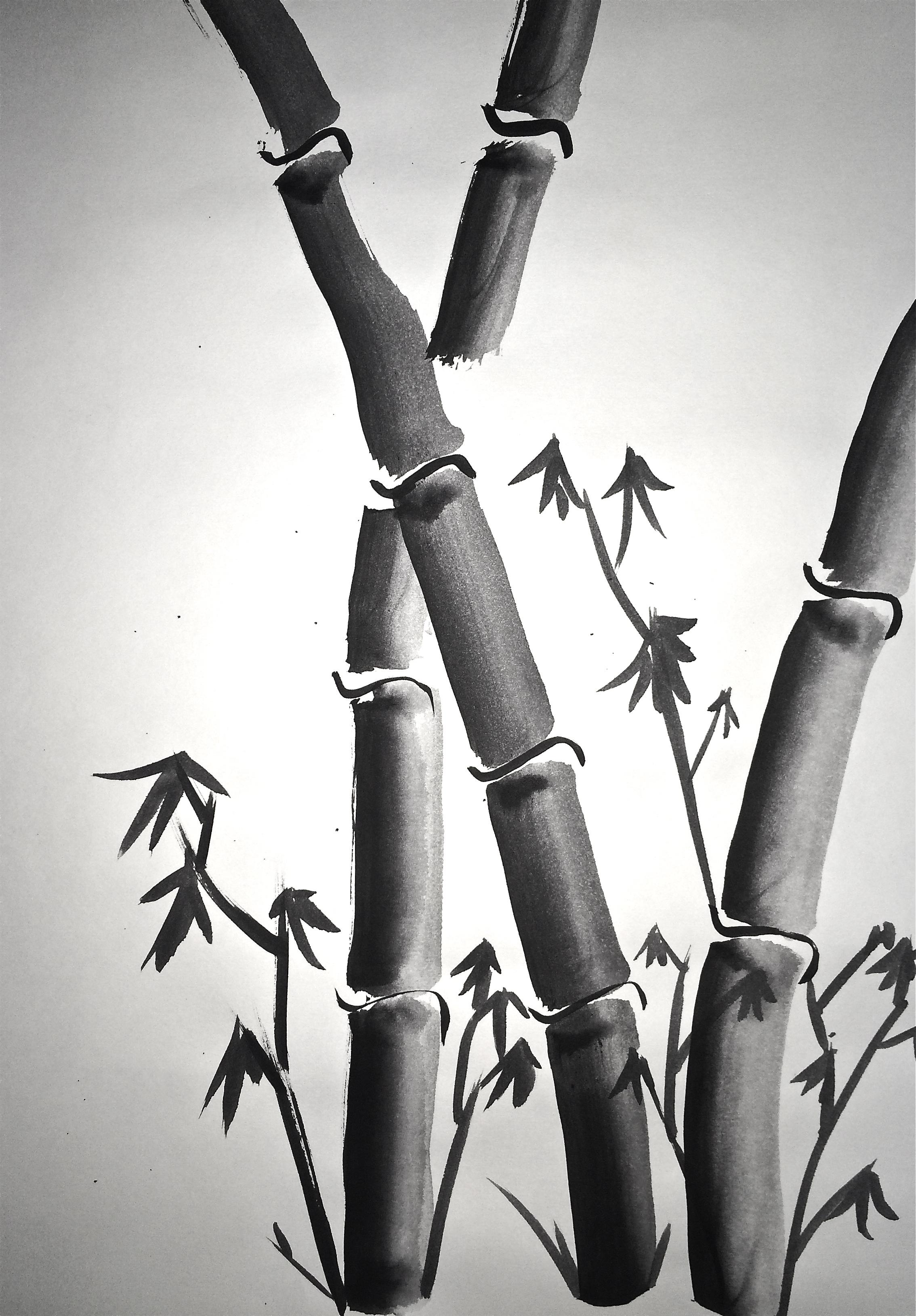 Sumi-e Painting 4 Basic Brushstrokes: Lesson 2