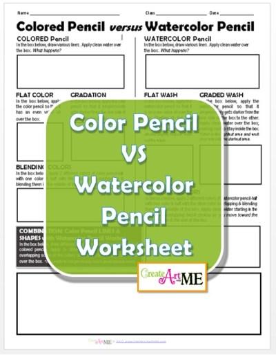 color pencil versus watercolor pencil worksheet. Black Bedroom Furniture Sets. Home Design Ideas