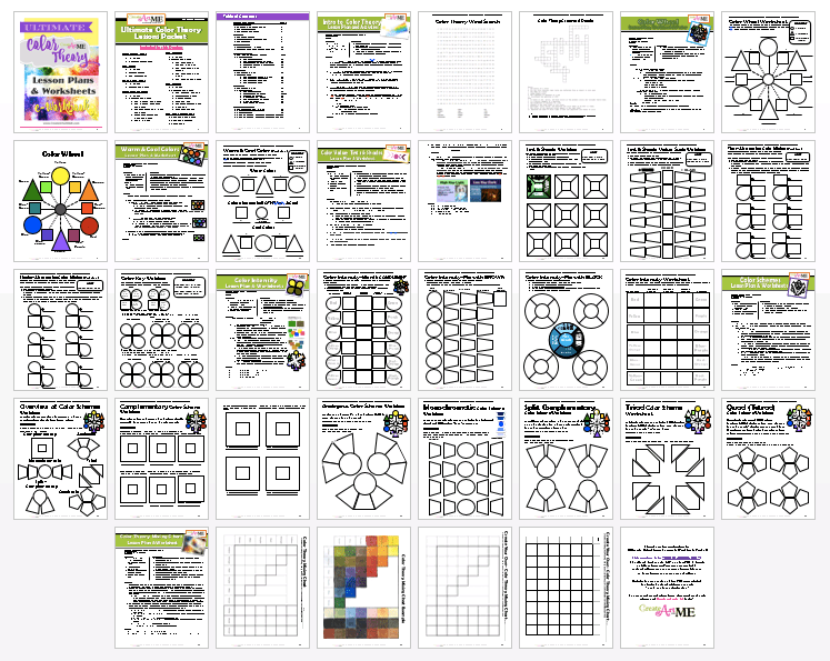 Ultimate Color Theory Lesson Plans and Worksheets eWorkbook – Color Theory Worksheet