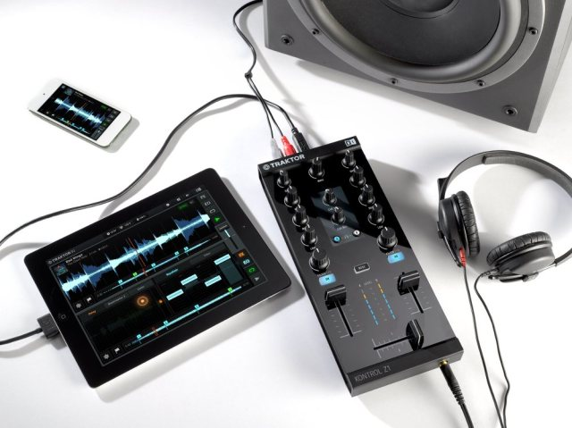 About as compact as you can get, without compromises: the iPad (even mini) alongside Z1 gives you a full-blown DJ rig, complete with dedicated output, headphone cue, control. Image courtesy Native Instruments.