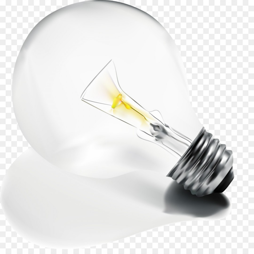 Glass Lamp Vector Png Incandescent Light Bulb Lamp Electric Light Vector