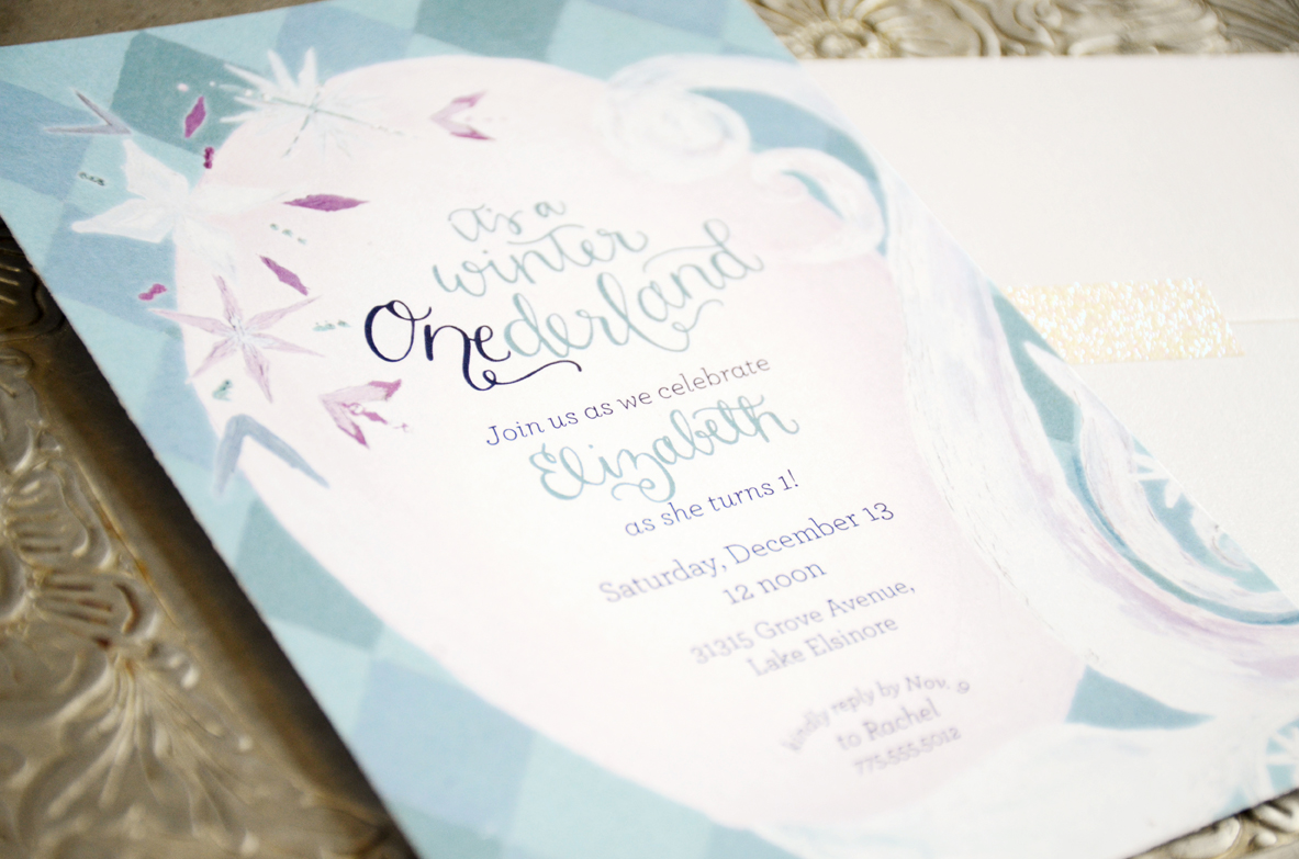 Fullsize Of Winter Onederland Invitations