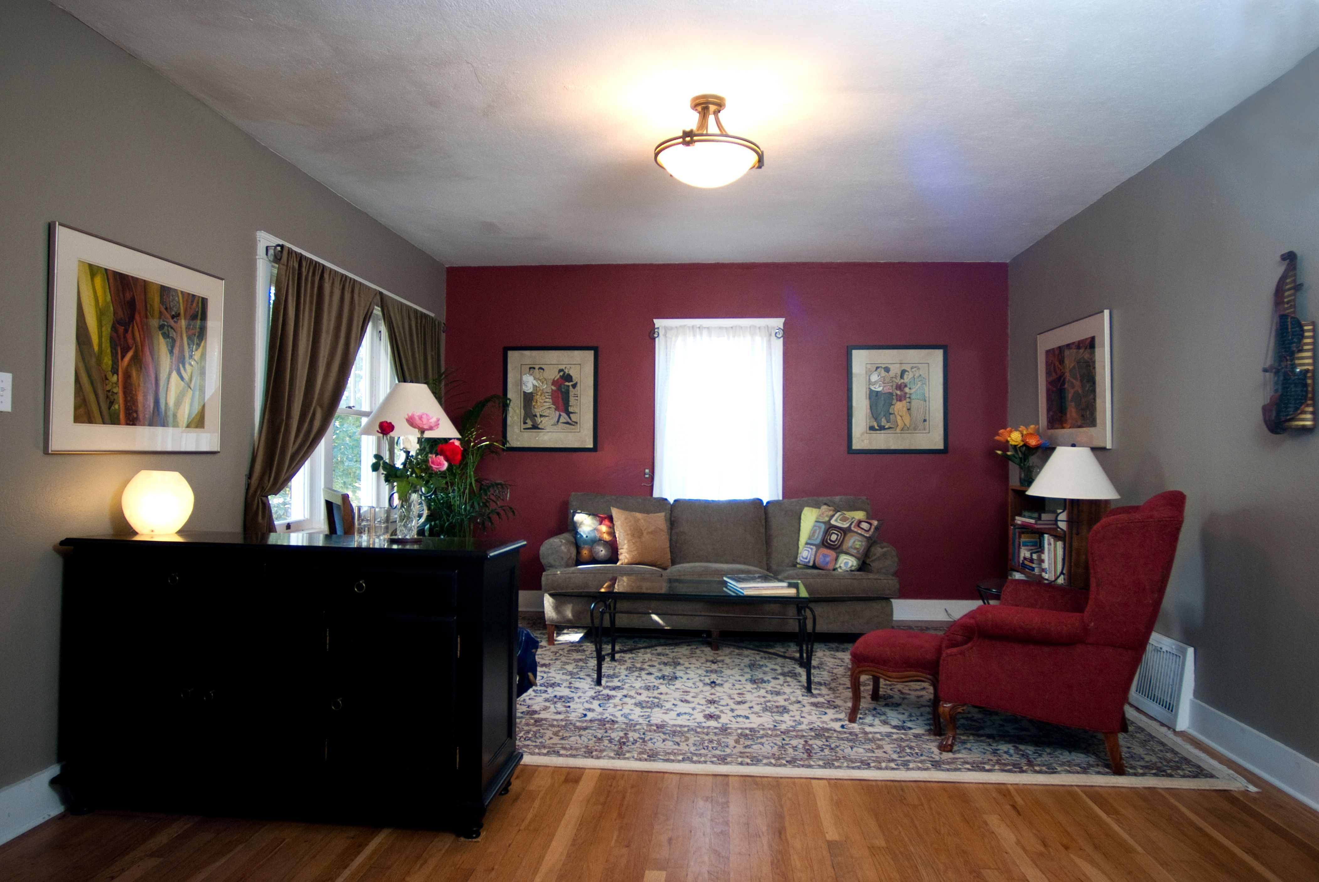 Red Wall Living Room Quick Chi Pick Me Up Paint Creating Joyful Spaces