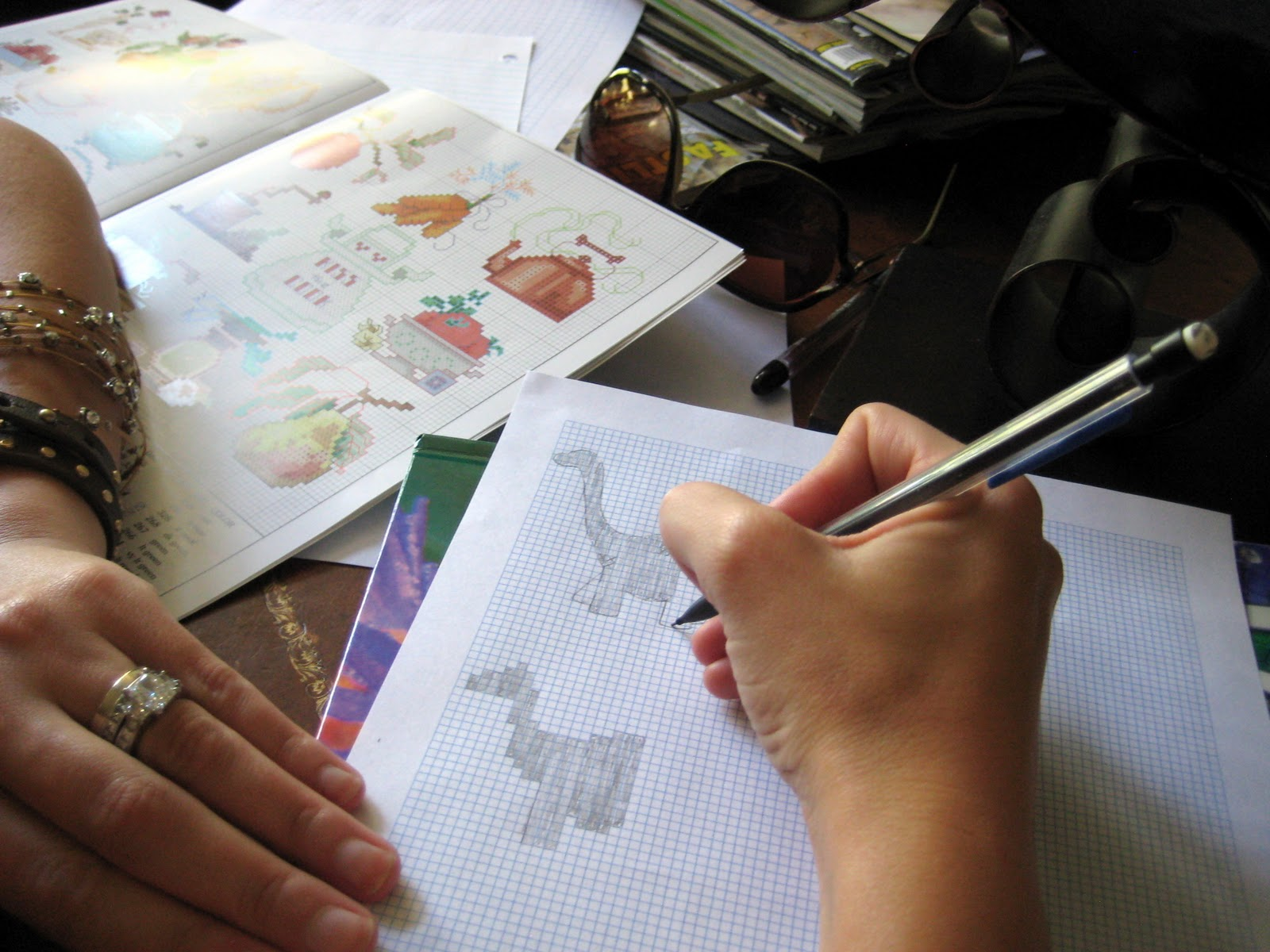 how to make a cross stitch pattern with graph paper