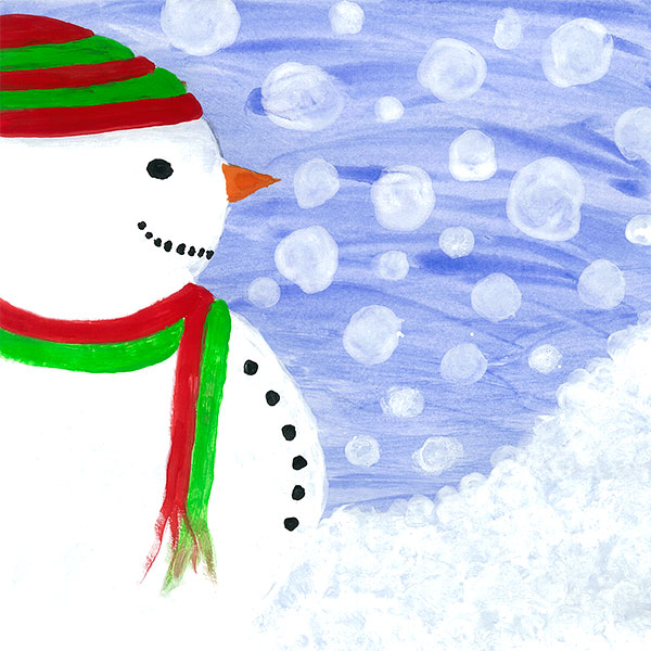 Express Personalised Christmas Art Cards for Schools - no sample