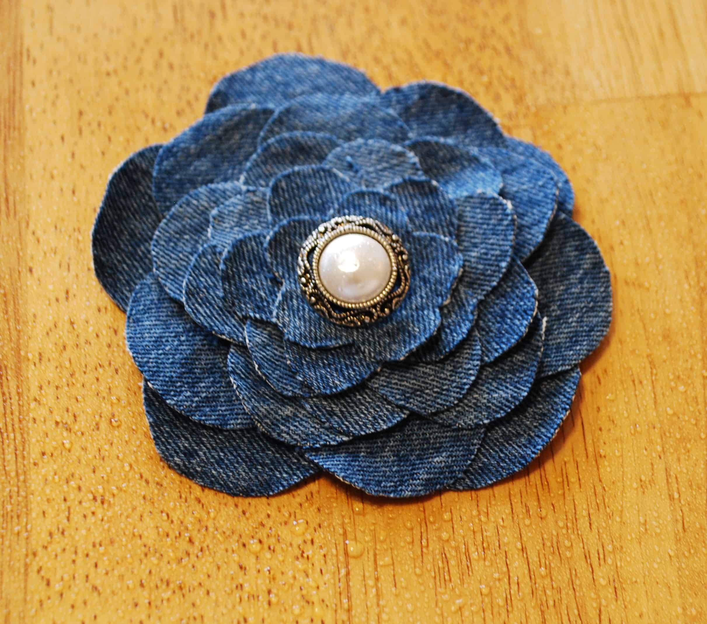 Shabby Look Denim Flower Tutorial