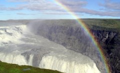 Gullfoss Waterfall, Iceland with Rainbow