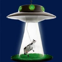 cow-abduction-ufo-lamp | Creative Ads and more