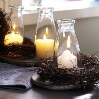 Thanksgiving Day table decoration ideas  candles ...