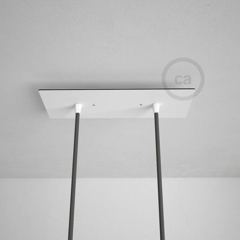 Gu10 Lamp Rectangular 30x12 Cm Xxl Ceiling Rose With 2 Holes