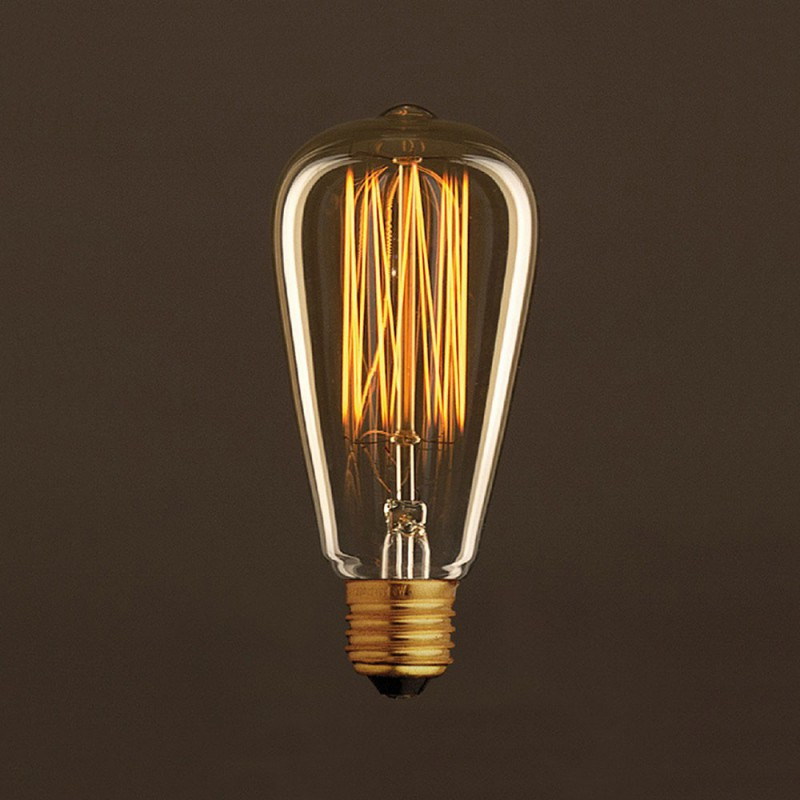 Glühbirne G9 Vintage Golden Light Bulb Edison St64 Carbon Filament Cage
