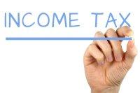 Income Tax - Handwriting image