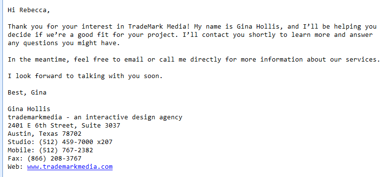 automated email responses