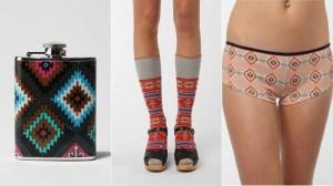 Flask, underwear, socks