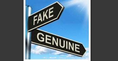 fake-genuine sign