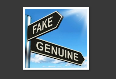 fake-genuine sign