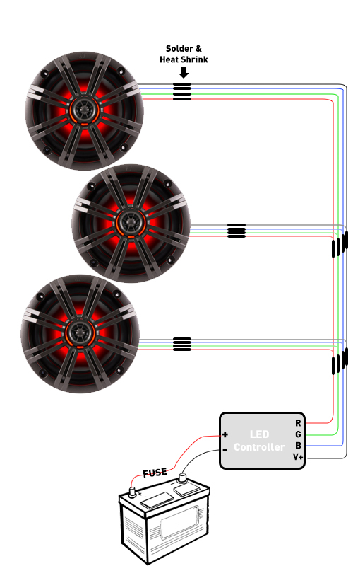LED Wiring for RGB speakers and rings - Creative Audio