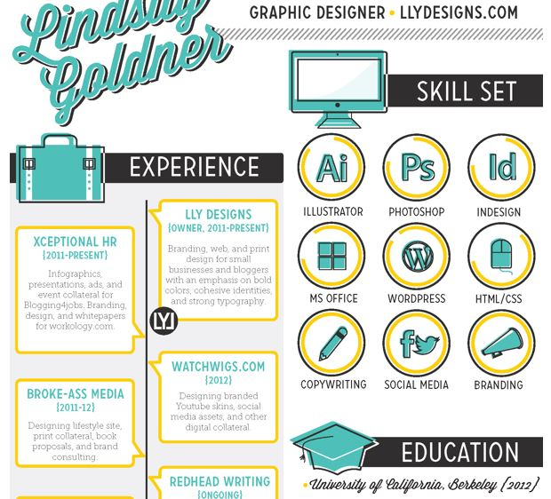 10 Creative Resumes to Inspire You Creative Beacon - design skills resume