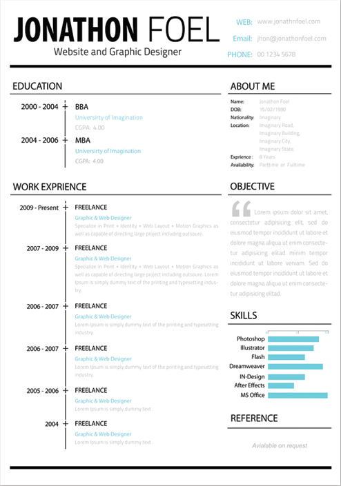Microsoft Word Resume Template 99 Free Samples Free Resume Template Psd Creative Beacon