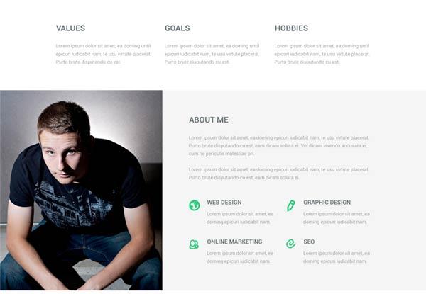 Free Focal Resume PSD Theme Creative Beacon - resume site