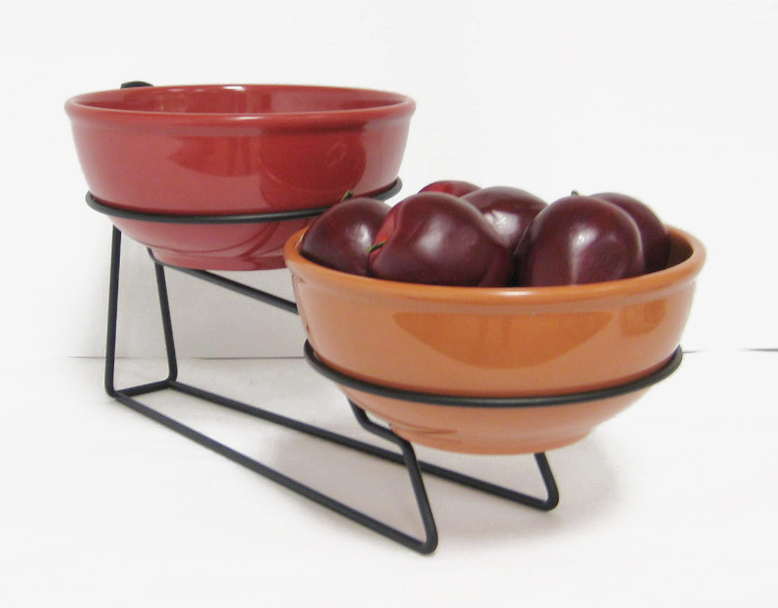 How To Display Bowls Two Bowl Display Melamine Creative Breakfast Concepts