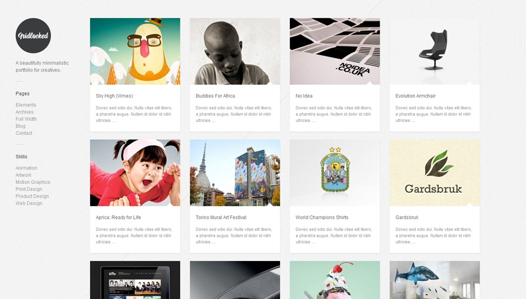 40 Great WordPress Themes with Grid Layouts - Creative CanCreative Can - portfolio themes tumblr
