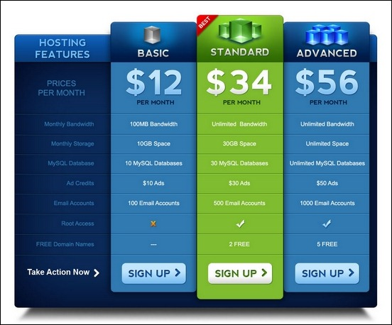 45+ Pricing Table Designs for Inspiration - Creative CanCreative Can