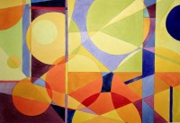 Abstract Paintings Using Shapes With Meaning