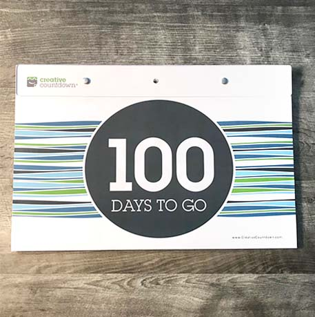 Creative Countdown Tear Off Countdown Calendar 100-days - Wall