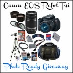 Canon Rebel Photo Ready Prize Pack Giveaway