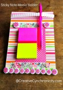 Sticky Note Memo Holder {Craft Lightning: Teacher Appreciation Gift}