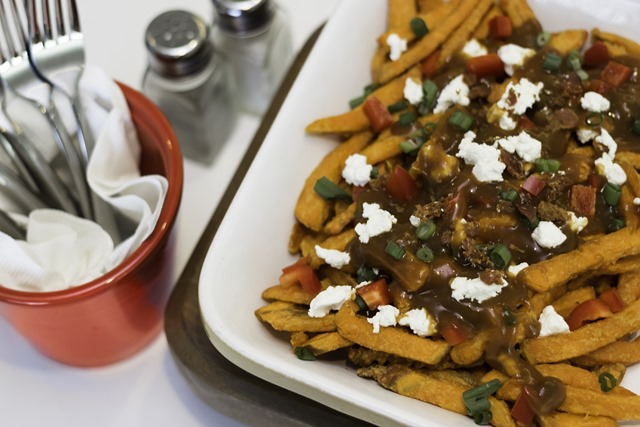 for Savoury Sweet Potato Poutine includes easy-to-prepare sweet potato ...