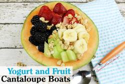Yogurt and Fruit Cantaloupe Boats Recipe