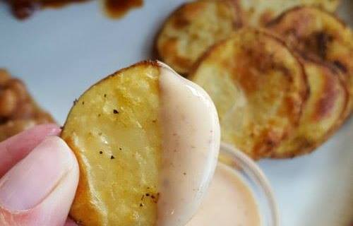 Baked French Fries with Sriracha Dipping Sauce Recipe