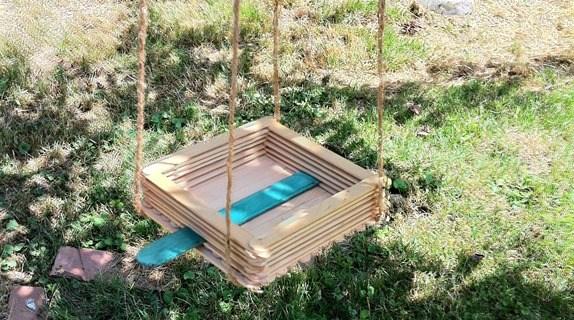 Make a Craft Stick Bird Feeder with Your Kids {Scout Crafts}