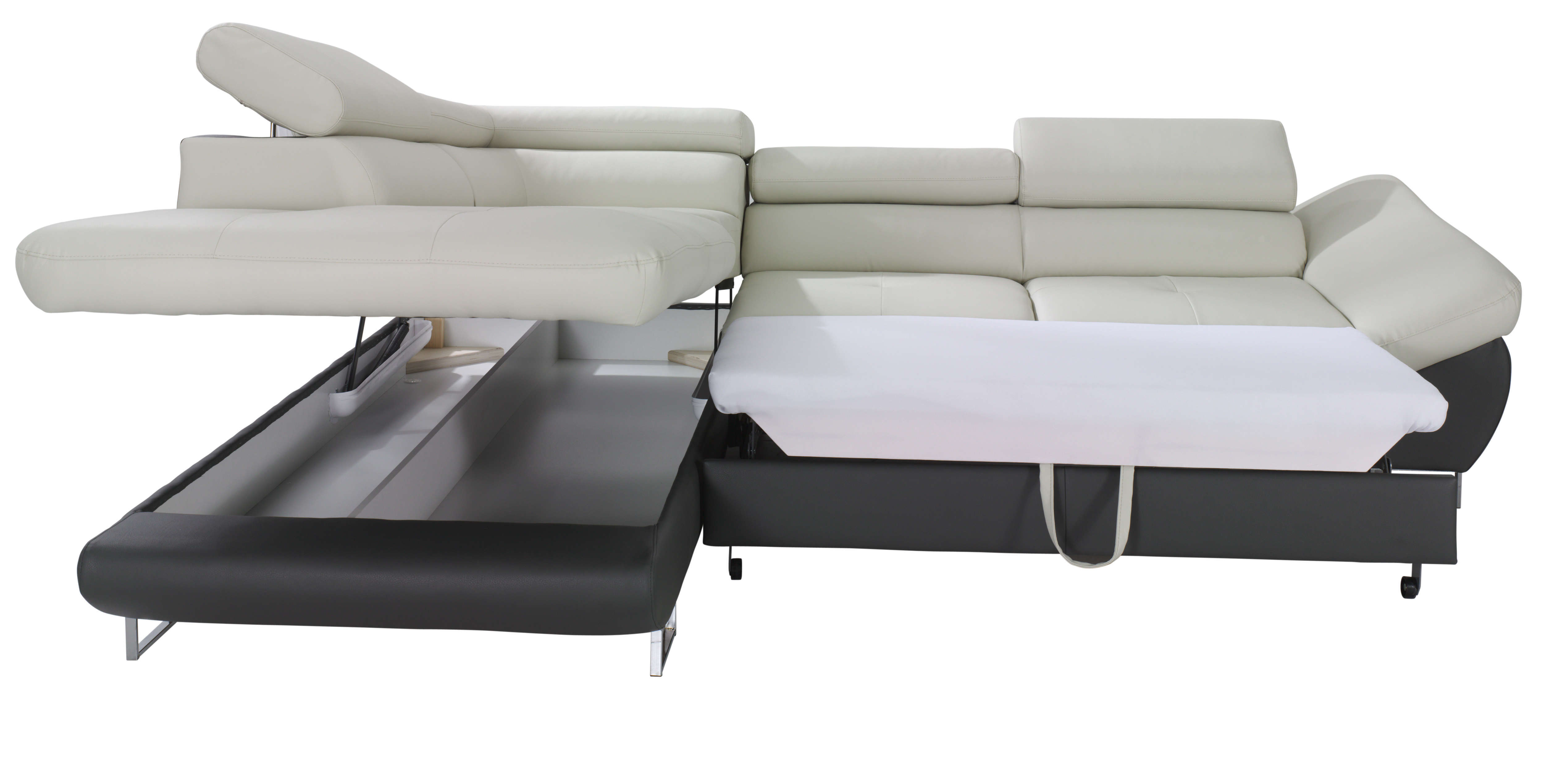 Couch Bed With Storage Fabio Sectional Sofa Sleeper With Storage Creative Furniture
