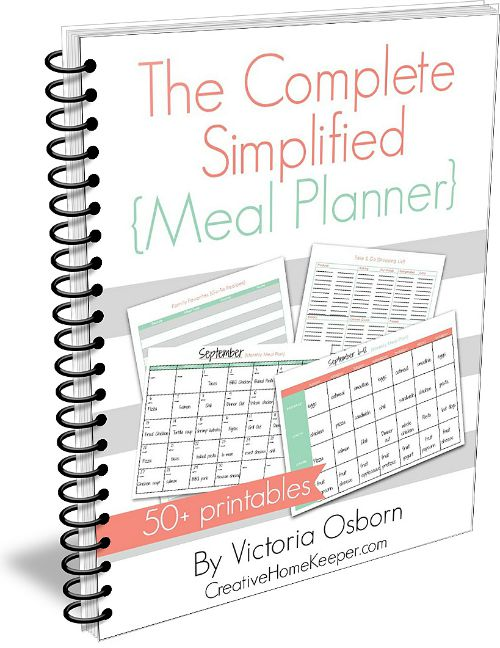 The Complete Simplified Meal Planner - Creative Home Keeper