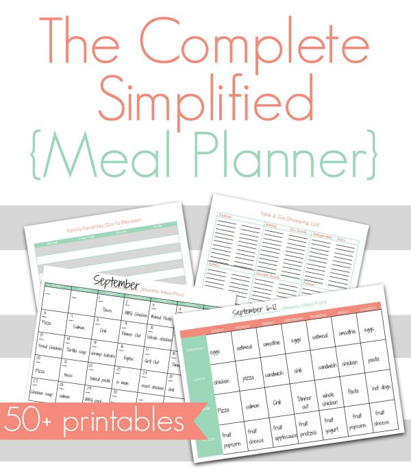 Simplify Meal Planning with this Meal Planner - Creative Home Keeper