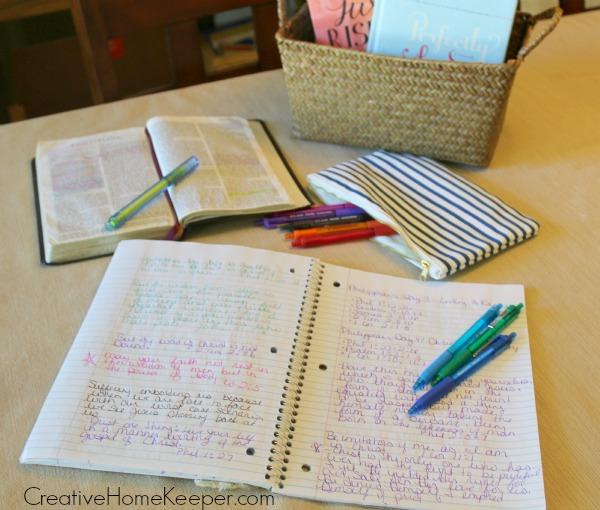 Bible Journaling - Creative Home Keeper