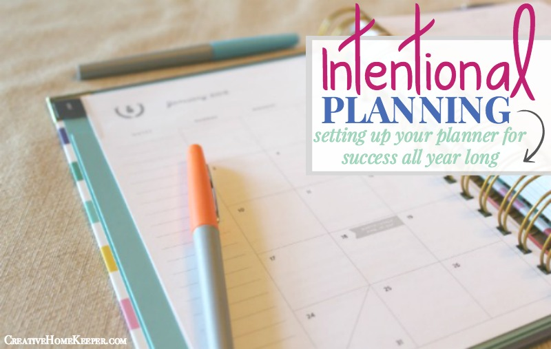 Intentional Planning Setting Your Planner Up for Success - Creative - multi year planner