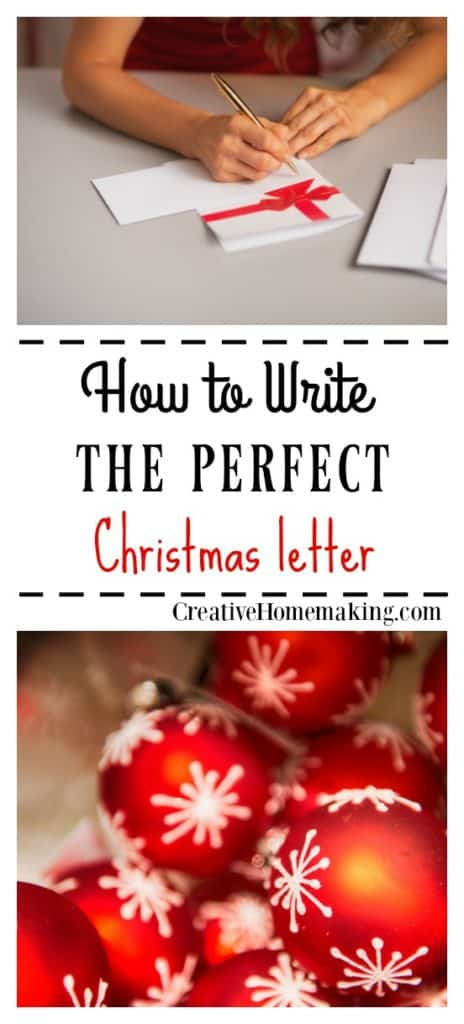 Writing the Perfect Christmas Letter - Creative Homemaking