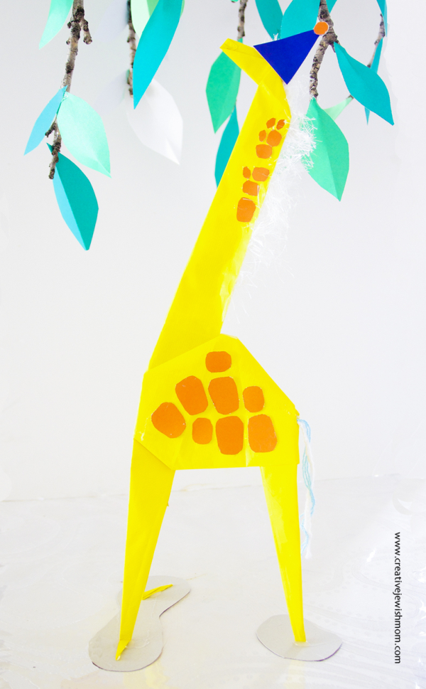Hang It All Giant Origami Giraffe Diy - Creative Jewish Mom