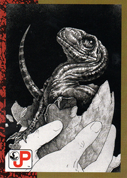 Jurassic Park Topps Trading Card Raptor Hatchling
