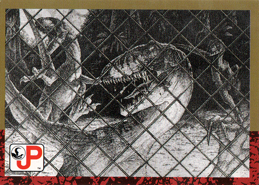 Jurassic Park Topps Trading Card Raptor Attack