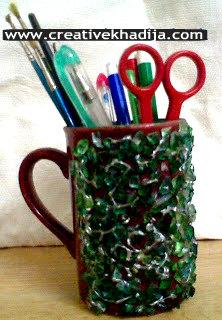 broken mug recycling mosaic
