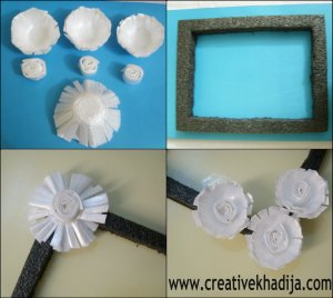 Styrofoam Flowers PhotoFrame Tutorial