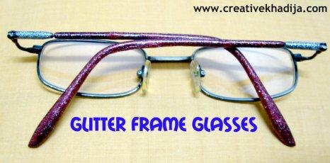 glitter frame glasses