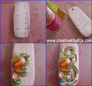 clay keyring making