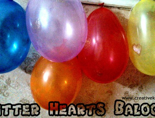 glitter hearts baloons making