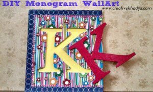 DIY monogram wall art tutorial